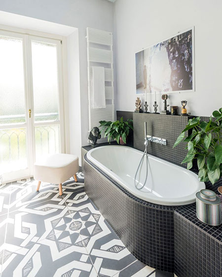 混搭风格旧房改造装修浴缸效果图设计