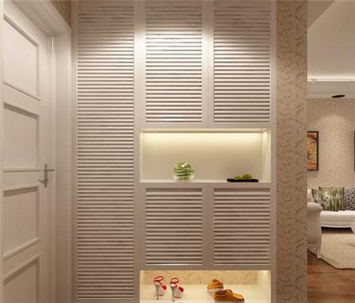 玄关柜效果图 打造入户时靓丽的第一道风景_按空间