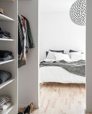 简约北欧风小卧室带衣帽间设计