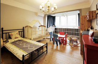 温馨复古美式儿童房效果图
