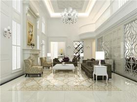客厅简欧装修效果图 5万搞定轻奢简欧风客厅图片