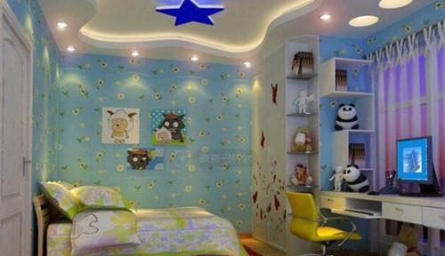 儿童房吊顶效果图 儿童房吊顶激发儿童想象力