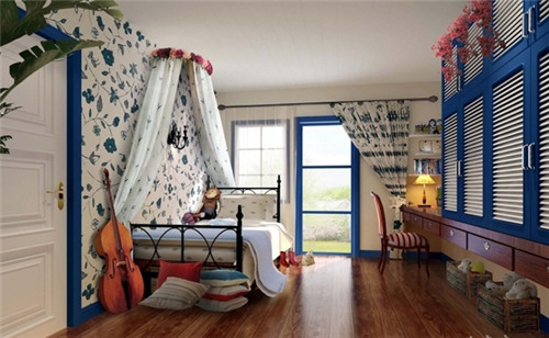 地中海儿童房装修让孩子感受度假风的卧室设计【宝鸡装饰半包排行榜】