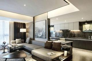 118平简约风格一室一厅装修效果图