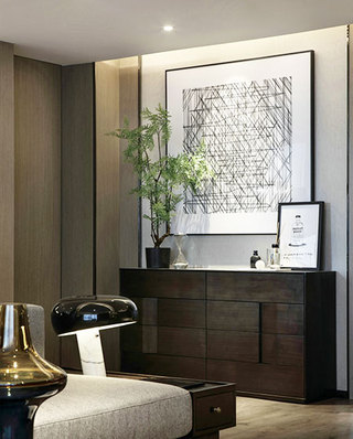 118平一室一厅装修装饰画图片