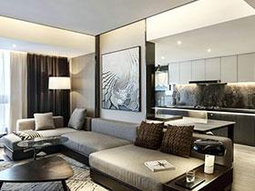 118平简约风格一室一厅装修 时尚精致一居