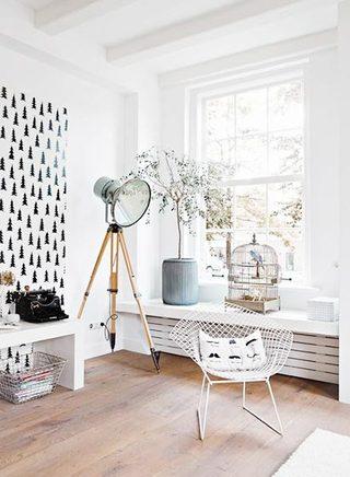 小户型客厅飘窗装修装饰效果图