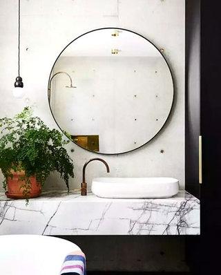 卫生间大理石洗手台效果图装修