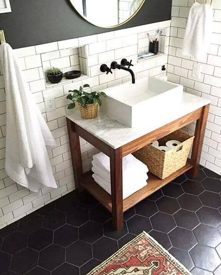 清爽大理石洗手台设计图