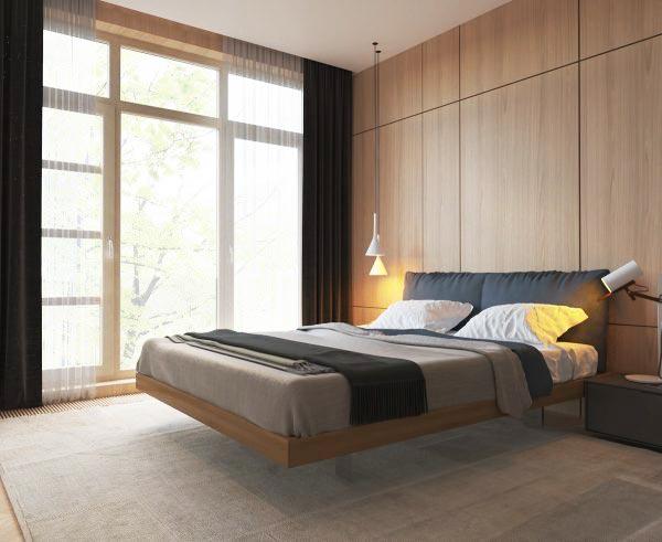 木质卧室背景墙效果图