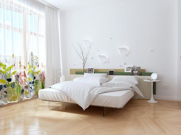白色系卧室参考图片