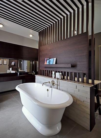 现代浴室装修装饰效果图