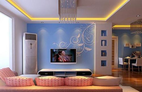 电视背景墙效果图2016 不同风格的客厅背景墙设计图片