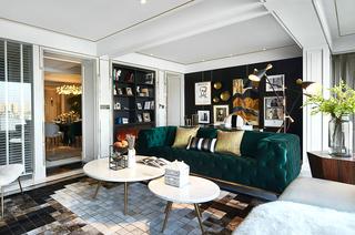 简约风格200平米装修客厅地毯设计图
