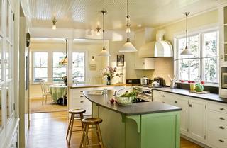 田园风格厨房吧台图片