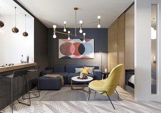 小户型客厅装修构造图