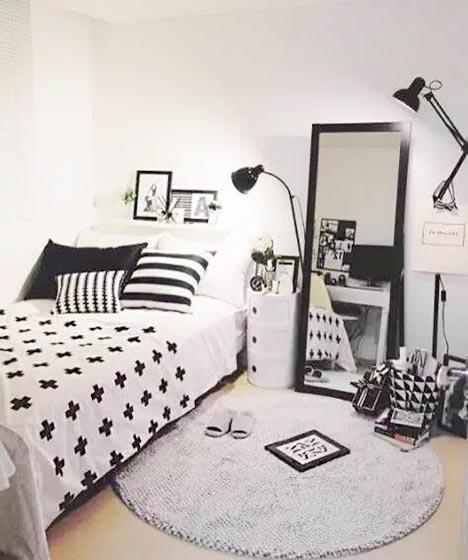 黑白简约卧室效果图