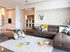 125平北欧风格三居室装修 生活里的慢时光