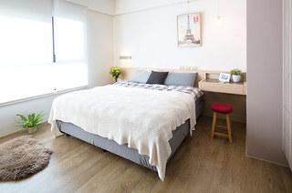 125平北欧三居室卧室装修设计图