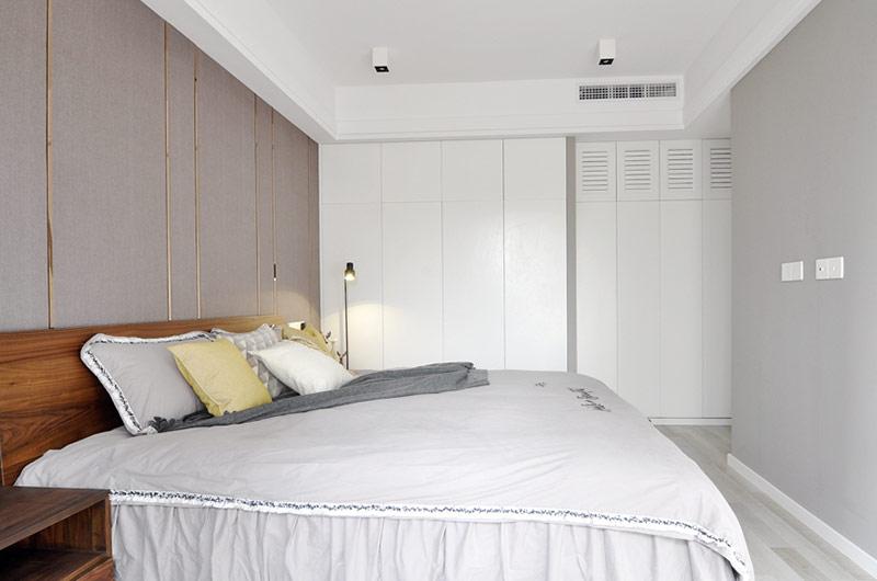89平简约小三居卧室床品图片