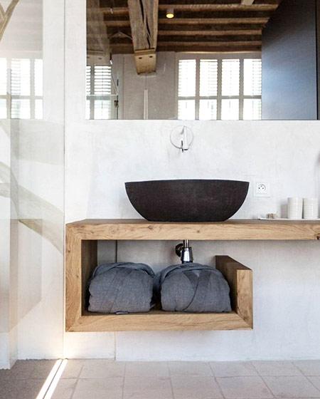 卫生间木质洗手台装修效果图