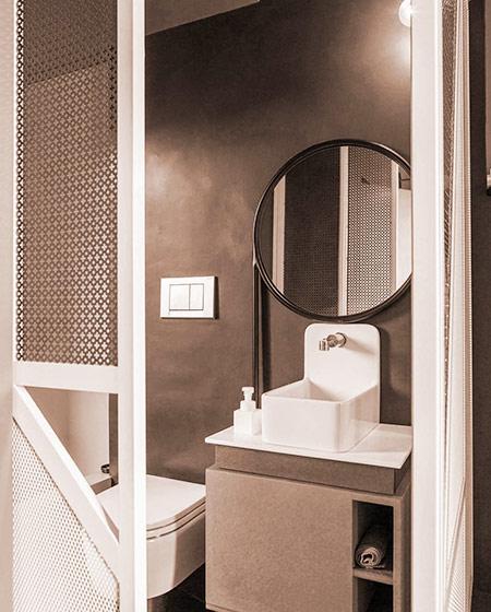 90平小公寓装修小卫生间设计图