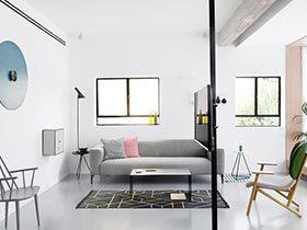 95㎡现代两居室实景图  开放空间