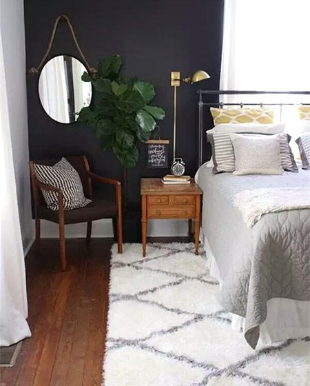 温馨卧室地毯效果图大全