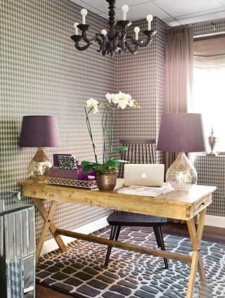 紫色系书房欣赏图