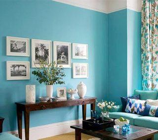 美式客厅照片墙欣赏图