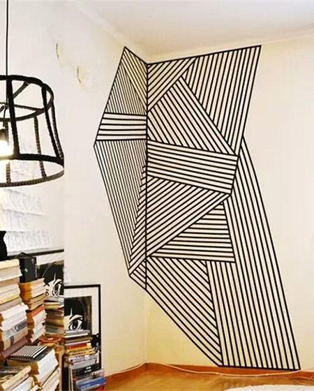 客厅diy手绘背景墙效果图