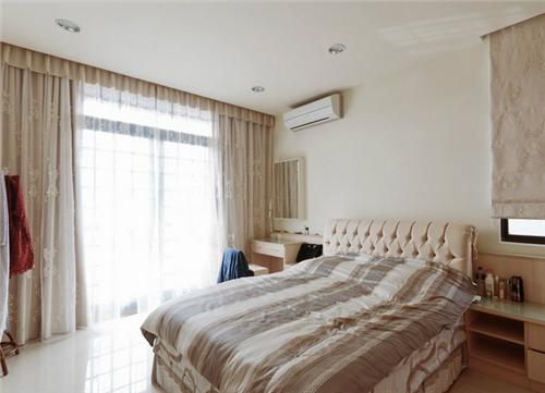 简约窗帘效果图 110平三居室现代简约风格窗帘