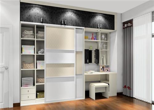 衣柜和梳妆台的一体化设计极大地节省了空间,而且实用性也是非常强的.图片