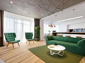 80㎡现代风公寓实景图  不规则的规则家居