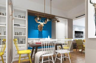 88平北欧风格二居餐厅效果图装修