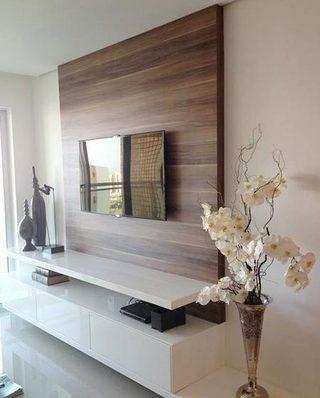 木质电视背景墙装修装饰效果图