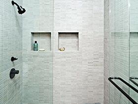 墙面也要凹造型  10个浴室收纳墙图片