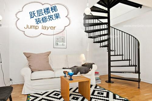 错层楼梯装修效果图 小户型错层楼梯装修也精彩