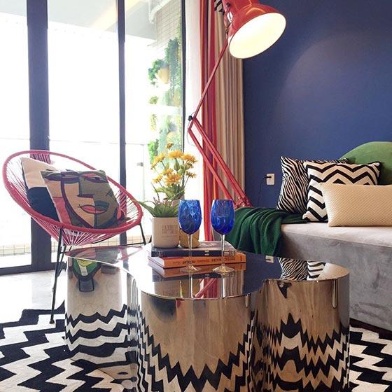 80㎡波普风两居室装饰图片