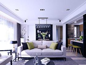 115平简约风格三室两厅装修 领略生活质感