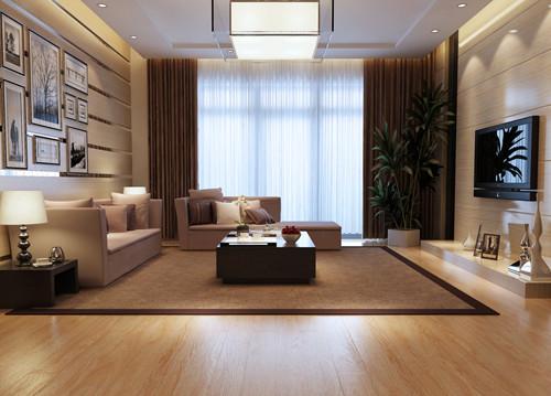 融入的欧式风格,在每个细节上都非常的有讲究,地板的颜色和沙发非常的