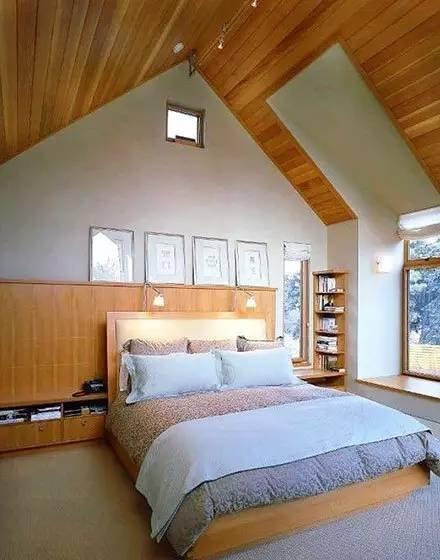 47款精美斜顶阁楼小卧室设计装修效果图大全