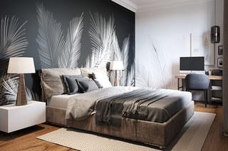 111平二居室装修卧室效果图