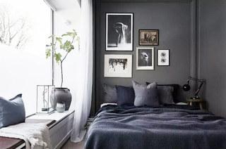 简约风格卧室照片墙设计