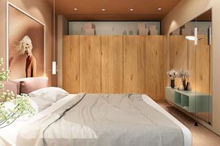 120平公寓装修卧室衣柜图片