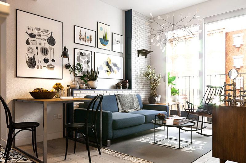 60平米小户型装修公寓效果图