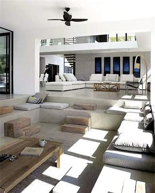 下沉式装修别墅客厅设计