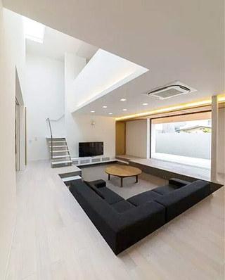 下沉式别墅客厅效果图设计