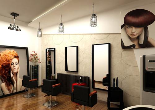 美发装修效果图欣赏 打造时尚潮流美发店
