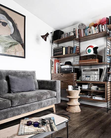 41平小户型公寓客厅效果图